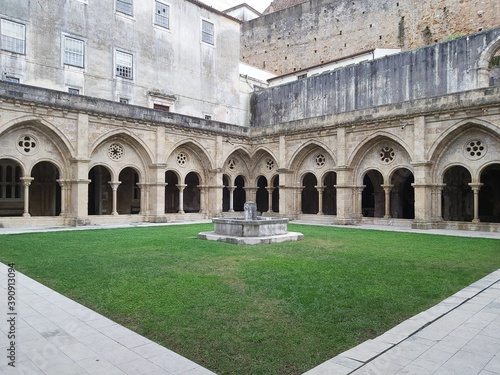 cloister of the cathedral del fiore city Canvas