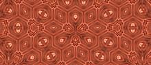 Seamless Brown Kaleidoscopic Pattern