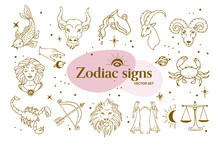 Zodiac Sign Vector Illustration Set