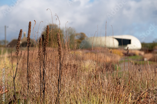 Canvas Print Garden at Hauser & Wirth Gallery named the Oudolf Field, at Durslade Farm, Somerset UK