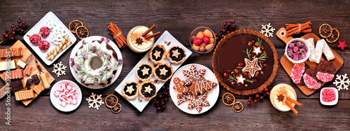 Tela Assorted Christmas holiday desserts and sweets