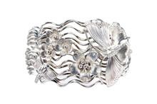 Silver Bracelet Decoration Wit...