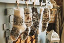 Cozy Fluffy Wool Knitted Warm ...