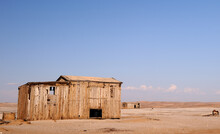 A Wooden Shack Leftover Of The Diamond Mining Of Yesteryear In The Namib Desert