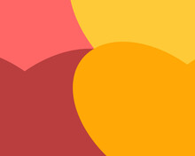 Abstract Orange Background With Hearts