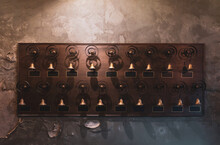 Picture Of Victorian Servant Bells On The Wall Of Hotel