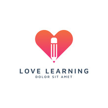 Love Education Negative Space Logo Design