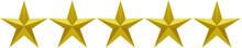 étoiles Dorées Sur Fond Blanc