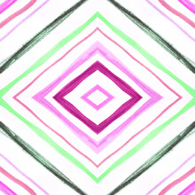 Watercolour Diamond. Geometric Seamless Pattern.