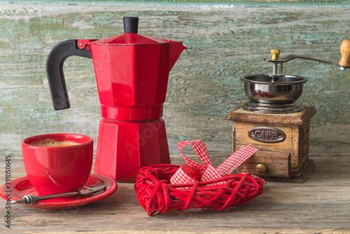 Coffee break in retro style Fotobehang