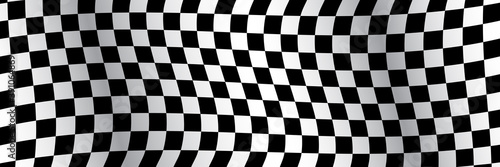Fotografia Banner, race flag background, checkered flag, car racing sport, checkerboard – v