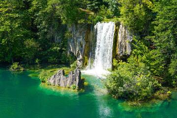 Fototapeta na wymiar The Plitvice Lakes National Park