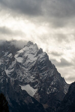 Dark Clouds Over Mountains