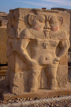 Bes Egyptian Statues At Temple
