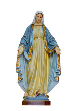 Our Blessed Morther Mary Statue Isolated