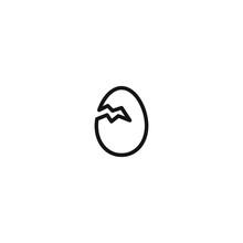 Chicken Egg Hatch Icon Logo
