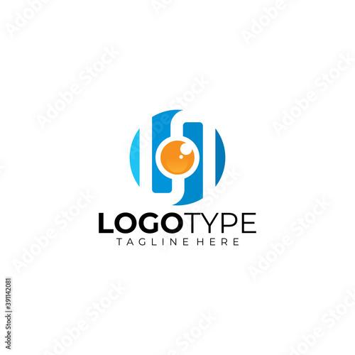 shutter cam logo icon vector isolated Fototapet