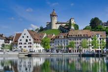 Der Munot (Burg) In Schaffhaus...