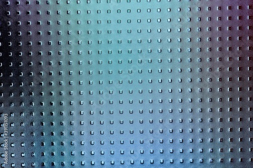 Abstract glass background patern gradient colors ang bumpy grid Fototapet