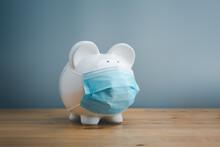Piggy Bank Wearing Surgical Fa...