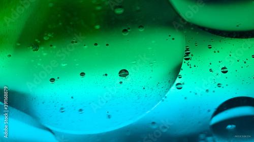 Makrofotografia, owalne kształty na tle pastelowych kolorów.  - fototapety na wymiar