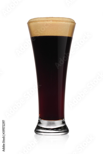 Glass of stout dark beer isolated on a white. Canvas