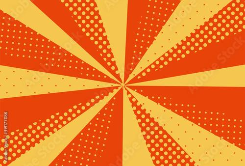 元気な集中線の背景素材 Fototapet