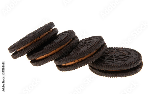 chocolate double cookie isolated Fototapet