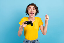 Photo Of Excited Girl Hold Con...