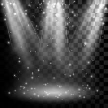 Illuminated Silver Stage Round...