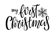 My First Christmas Lettering W...