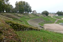 Ancient Roman Ruins In Autun