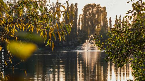 Fototapeta Fountain in