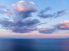 Dark Blue And Purple Sky And S...