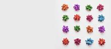 Festive Colorful Bows On Spark...