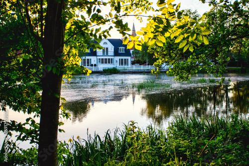 Photo pavilion on the lake