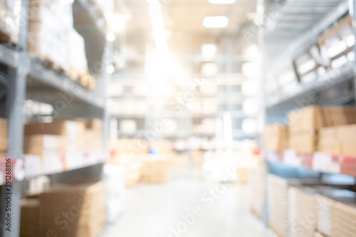 Slika na platnu Abstract blurred shopping mall interior background