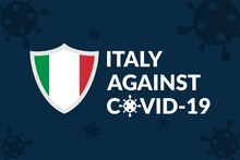 Italy Against Covid-19 Campaign - Vector Flat Design Illustration : Suitable For World Theme, Health / Medical Theme, Humanity Theme, Infographics And Other Graphic Related Assets.