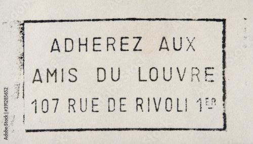 Obraz na plátně post letter mail brief stempel frankreich france französisch vintage retro alt o