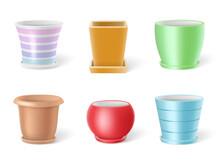 Set Of Realistic Colorful Cera...
