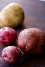 Close Up Of Healthy Red Potatoes