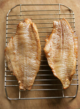 Close Up Of Smoked Catfish On Grill