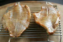 Close Up Of Smoked Catfish On ...