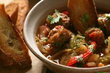 Chorizo Stew With Toasted Brea...