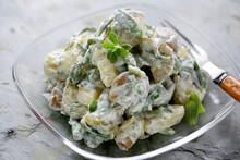 Close Up Of Potato Salad In Bowl
