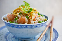 Bowl Of Chinese Fried Rice Wit...