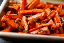 Roasted Carrots With Parsley A...