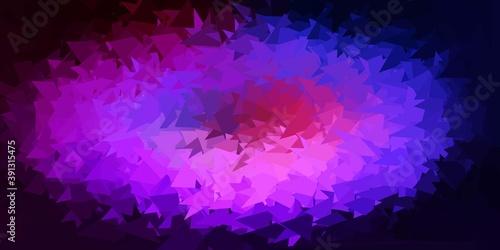 Light blue, red vector geometric polygonal wallpaper.