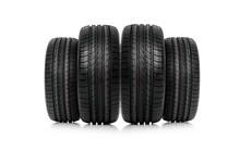 Car Tires Abstract Background Isolated On White