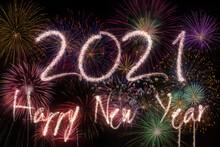 2021 New Year Fireworks Backgr...